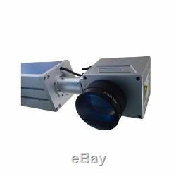 US Stock 30W Split Fiber Laser Marking Machine Raycus Laser Rotation Axis FDA
