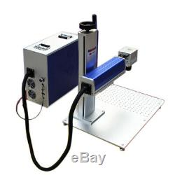 US Stock 30W Split Fiber Laser Marking Machine with Raycus Laser & Rotation Axis