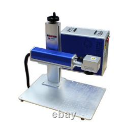 US Stock 30W Split Fiber Laser Marking Machine with Rotary Axis and Raycus Laser