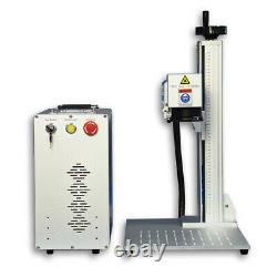 US Stock 50W Fiber Laser Marking Engraving Machine 175mm Lens 80mm Rotary Axis