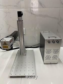 US Stock 50W JPT EZCad 3 Fiber Laser Marking Engraving Machine Rotary Axis #80