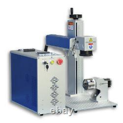 US Stock 50W JPT Fiber Laser Marking Machine Rotary Axis Included Laser Engraver