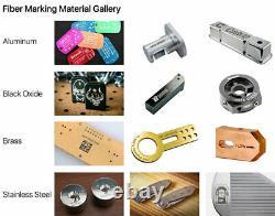 US Stock Metal 50W Split Fiber Laser Marking Machine with Rotation Axis & EZCAD2