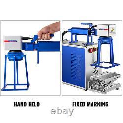 VEVOR 30W Hand Held Fiber Laser Marking Machine 4.3x4.3 Metal Engraver 110V US